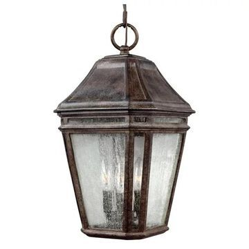 Feiss Londontowne LED Outdoor Pendant, Weathered Chestnut