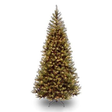 National Tree Company 7-ft Aspen Spruce Pre-Lit Traditional Artificial Christmas Tree with 400 Constant White Clear Incandescent Lights
