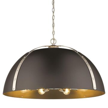 Golden Lighting Aldrich Pewter Transitional Dome Pendant Light
