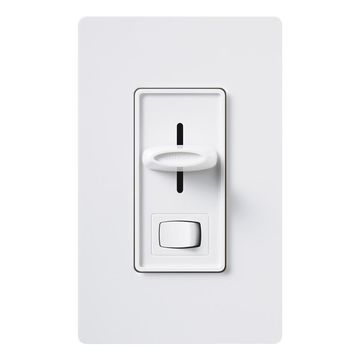 Lutron Skylark Single-Pole/3-Way White Slide Light Dimmer