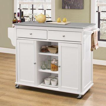 Acme Furniture Tullarick Portable Island Kitchen Cart