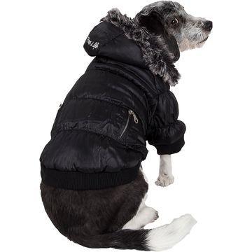 Pet Life Metallic Parka Dog Coat