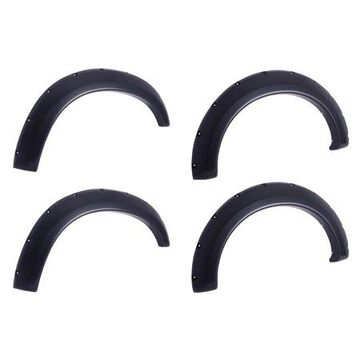 EGR 796005 Bolt-On Look Fender Flare Set of 4; No-Drill; Front And Rear; Matte Black Finish;
