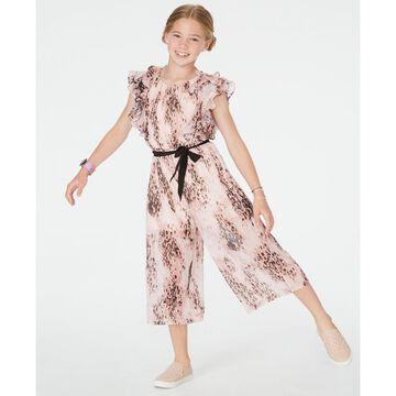 Big Girls Ruffled Cropped Jumpsuit