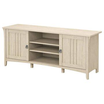 Bush Furniture Salinas Antique White TV Stand (Accommodates TVs up to 70-in) | SAV160AW-03