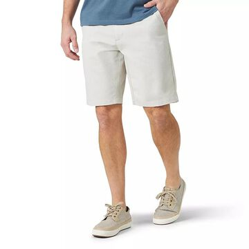 Men's Lee Airflow Straight-Fit Flat-Front Shorts, Size: 32, Med Grey