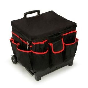 Darice Rolling Craft Cart with Fabric Cover