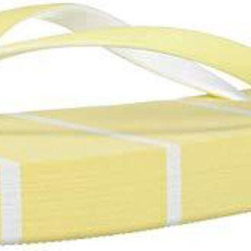 Qupid Women's Thong Sandal Flip-Flop, Yellow, 9 M US