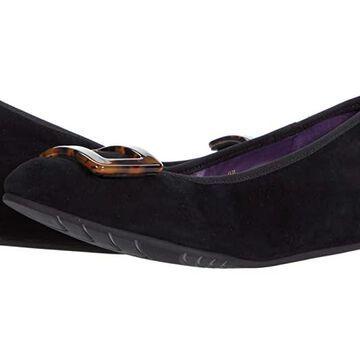 Vaneli Perm (Black Suede/Tort Buckle) Women's Shoes