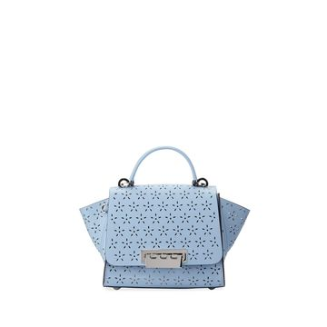 Eartha Floral Perforated Leather Top-Handle Bag