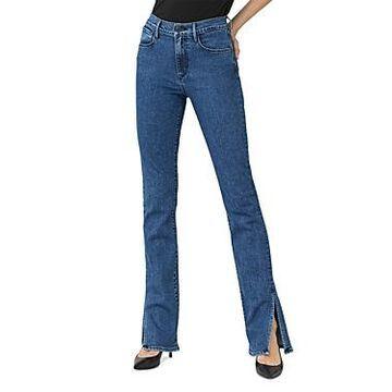 3x1 High-Rise Split-Seam Bell Flared Jeans in Hester