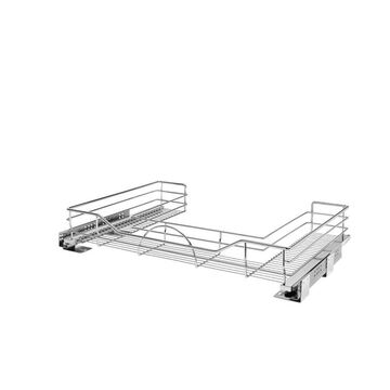 Rev-A-Shelf 29.5-in W x 5.25-in H 1-Tier Pull Out Metal Soft Close Baskets & Organizers in Chrome