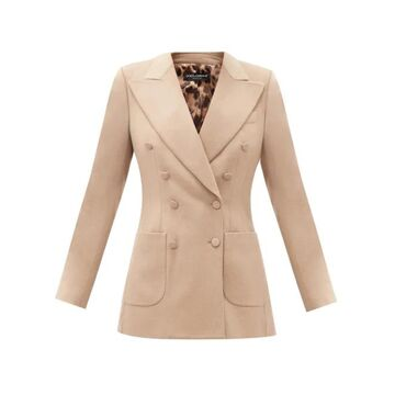 Dolce & Gabbana - Double-breasted Felted-cashmere Jacket - Womens - Camel