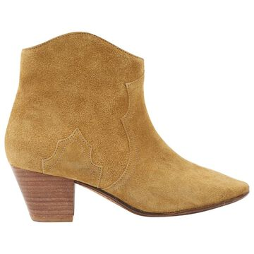 Isabel Marant Etoile Beige Suede Ankle boots