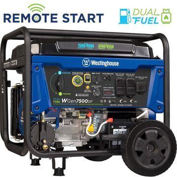 Westinghouse Dual Fuel 7500-Running-Watt Gasoline/Propane Portable Generator