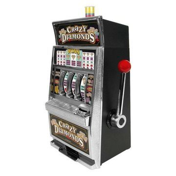 Crazy Diamonds Slot Machine Bank by Trademark Gameroom