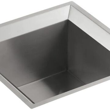 KOHLER Poise 18-in L x 18-in W Stainless Steel Undermount Commercial/Residential Bar Sink   3391-NA