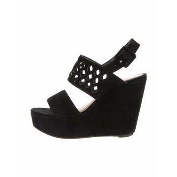 Suede Slingback Sandals Black