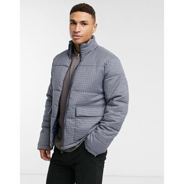 New Look checked puffer jacket-Black