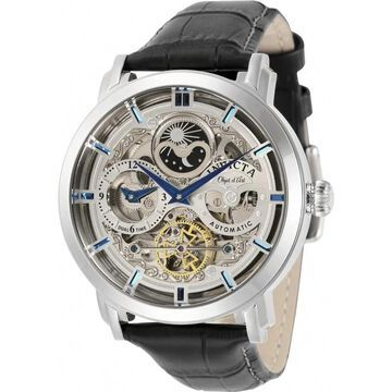 Invicta Men's 32298 'Objet D Art' Automatic Black Leather Watch