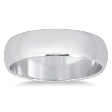 Marquee Jewels 950 Platinum 5 mm Comfort Fit Domed Wedding Band