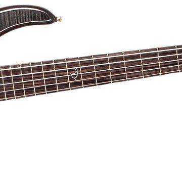 Edge Pro 4-String Electric Bass Guitar w/Active EQ Transparent Black