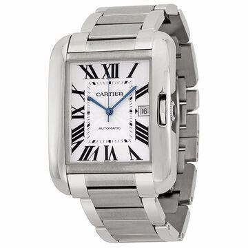 Cartier Men's Tank Anglaise Silver Watch