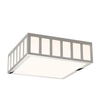 Sonneman 2529 Capital LED Flushmount Ceiling Fixture with White Glass Shade