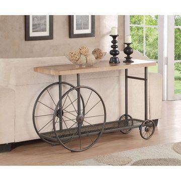 Benzara Sofa Table Cart