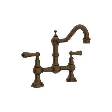 Rohl Bridge Kitchen Faucet in English Bronze