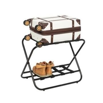 Honey Can Do Collapsible Black X-Frame Luggage Rack