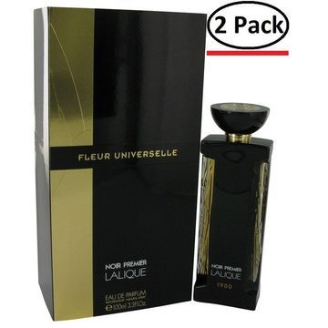 Lalique Fleur Universelle Noir Premier by Lalique Eau De Parfum Spray (Unisex) 3.3 oz for Women (Package of 2)
