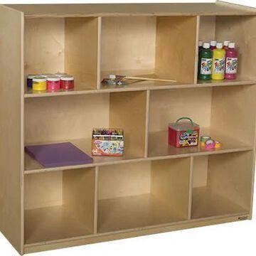 Wood Designs Storage 42H X-Deep 18 Mobile Single Storage Unit, Birch | Quill