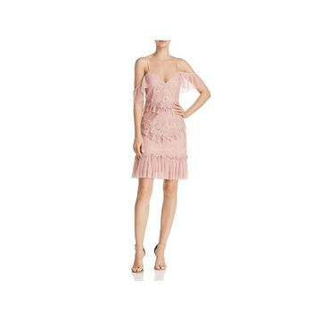 Bardot Womens Valerie Party Dress Lace Pleated