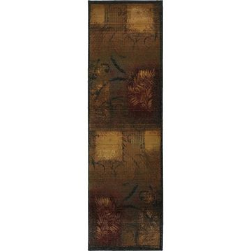 Style Haven Kharma II Brown/Gold Runner Rug (2'6 x 9'1) - 2'6