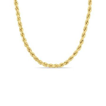 10kt Yellow Gold Men's 4MM Rope Chain Necklace