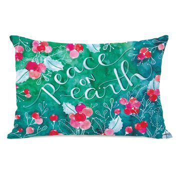 Peace On Earth 14x20 Pillow by Ana Victoria Calderon