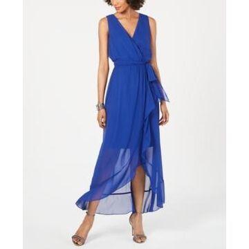 Sl Fashions Surplice High-Low Maxi Dress