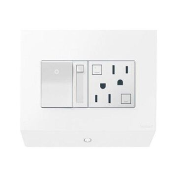 Legrand APCB62 adorne Lighting Control Box with Paddle Dimmer and 15A GFCI