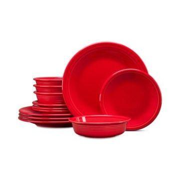 Fiesta Scarlet 12-Pc. Classic Dinnerware Set, Service for 4