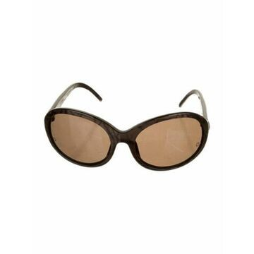 Oversize Tinted Sunglasses Brown