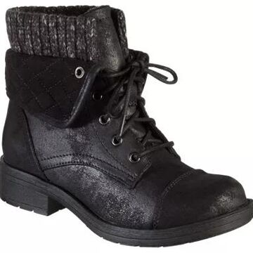 Natural Reflections Veruca Quilted Bootie Boots for Ladies - Black - 11M