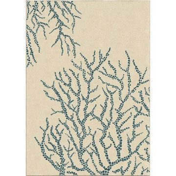 All Over Coral White Area Rug by Orian Rugs - 7'8