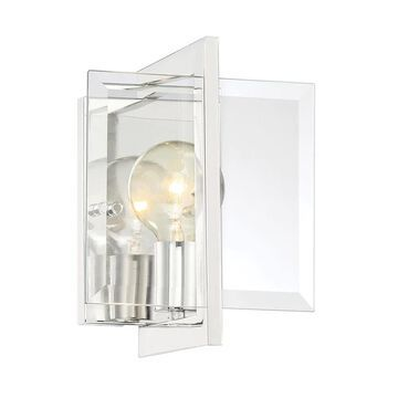 Designers Fountain Ethan 6.5-in W 1-Light Polished Nickel Modern/Contemporary Wall Sconce | 93601-PN