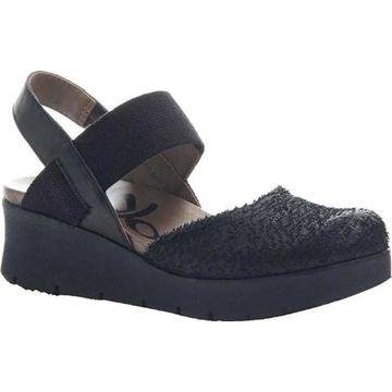 OTBT Women's Roadie Sandal Black Leather/Textile
