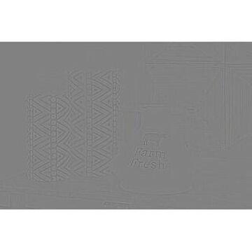 "Studio 350 Farmhouse Round White Ceramic Pitcher w/ Handles and Twine Detail, 8"" x 12"""