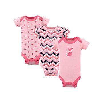 Luvable Friends Girls' Infant Bodysuits $24.00 - Pink Bodysuit Set - Newborn
