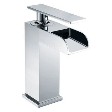 ALFI brand AB1598-PC Polished Chrome Single Hole Waterfall Bathroom Faucet