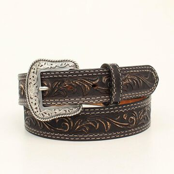 Nocona N2300701-44 Mens Pecos Embossed Belt & Buckle, Black - Size 44