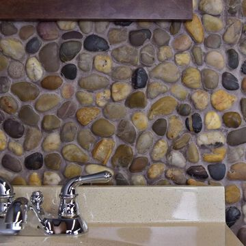 SomerTile 11.75x11.75-inch Riverbed Multi Natural Stone Mosaic Floor and Wall Tile (10 tiles/9.6 sqft.)